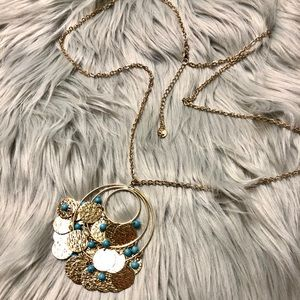 Beautiful gold and turquoise necklace